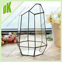 Decorative hanger pot outdoor glass pot @@ OEM welcome good quality garden geometric metal copper flower pot pedestal