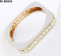 Jewelry Making Supplies Wholesale China Glitter Square Bangle