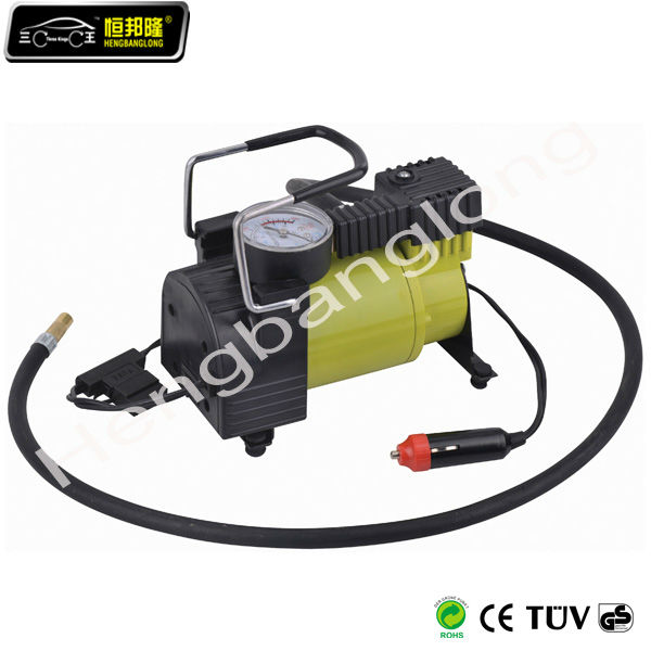 DC 12V portable tire inflators with CE and RoHs Certificate