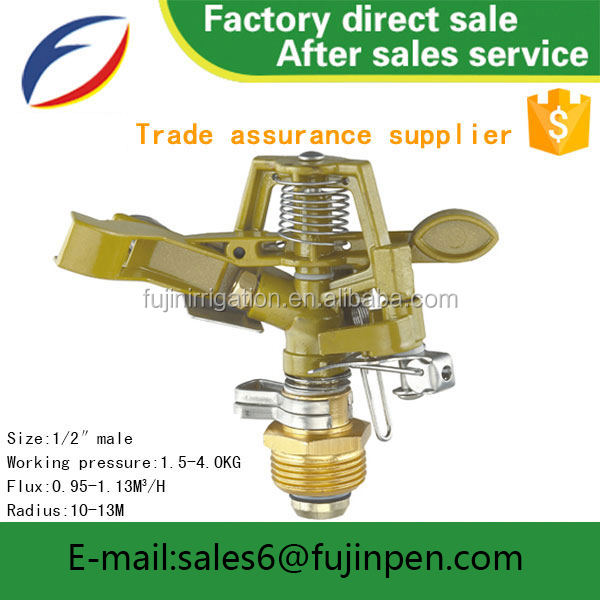 Irrigation equipment sprinklers 1/2'' Male 2.0MM Nozzle Irrigation micro water Impulse Sprinkler made in China