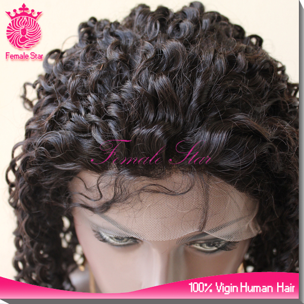 2015 hot sale afro kinky twist human hair full lace wig in stock can dye and style