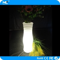 New invention waterproof color changing home/garden/party decoration high tech remote control led flower vase / led pot lights