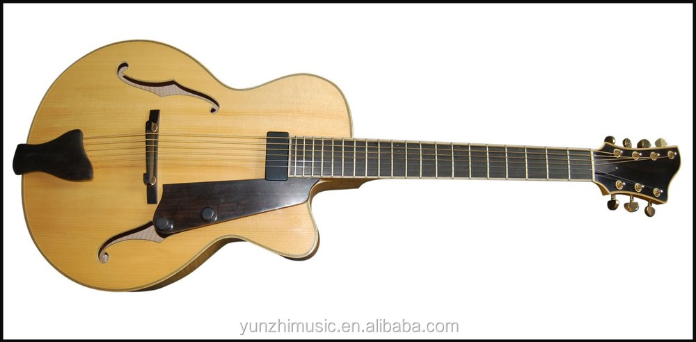 Archtop 7string handcraft with solid wood jazz guitar for sale