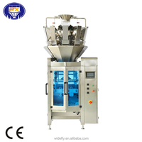vertical packaging machine with multihead weigher for snacks sugar candy frozen food sea food