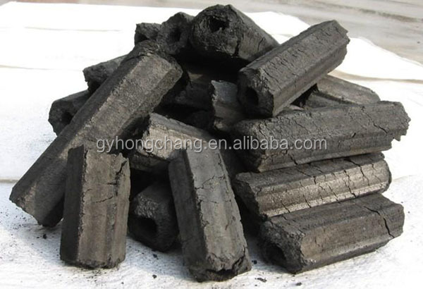 Coconut Shell Hexagonal Shape Charcoal For Barbeque