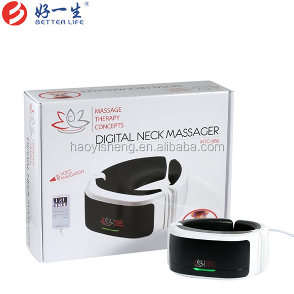 mini electric personal Vibration Magnetic Neck Massager with Infared for home use