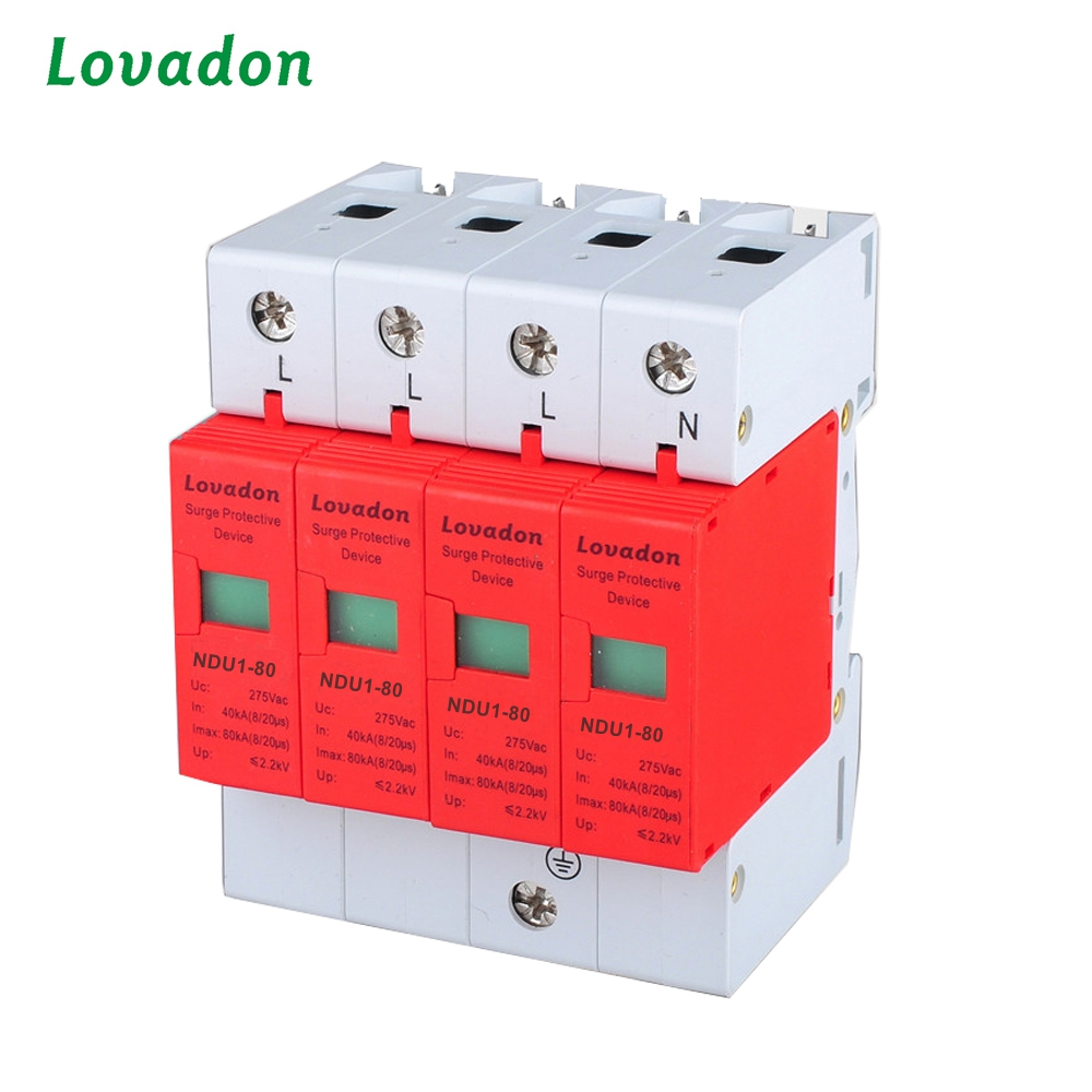 Class B Power NDU1-80 4P Lightning Surge Arrester Protection Surge Protective Device