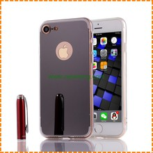 Luxury Mirror Electroplating Soft TPU Smart phone case Back Cover For iPhone 7