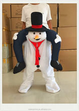 Inflatable snowman ride on costume Adults Carry Me Snowman Fancy Dress Up Party Costume Funny costumes