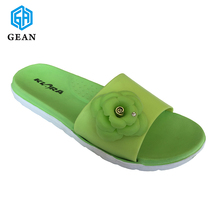 Young Grass Green Beautiful & New Design Models eva Slippers for ladies