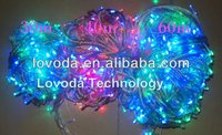 60m multi-color 12 volt led string lights/battery powered led christmas light/indoor led light string LFD-600RGB