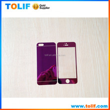 for mobile phone iphone6 colorful mirror tempered glass screen protector