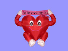 120cm Valentine decoration large inflatable heart with scroll