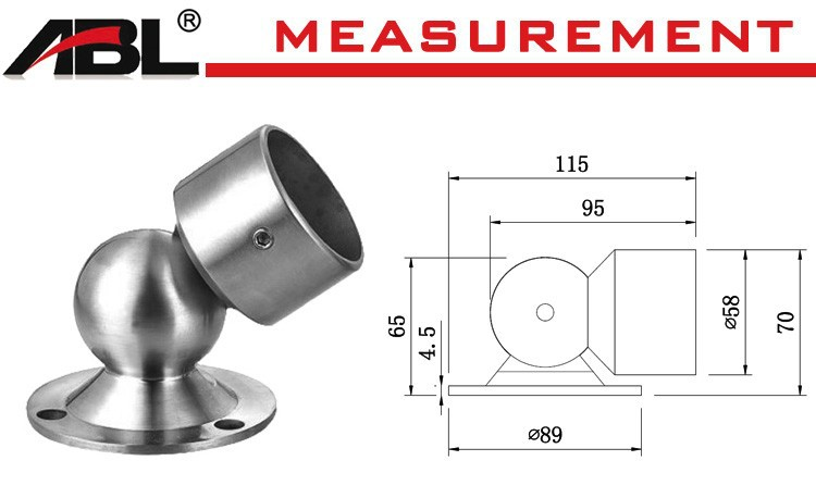 round pipe fitting, stainless steel anchor flange