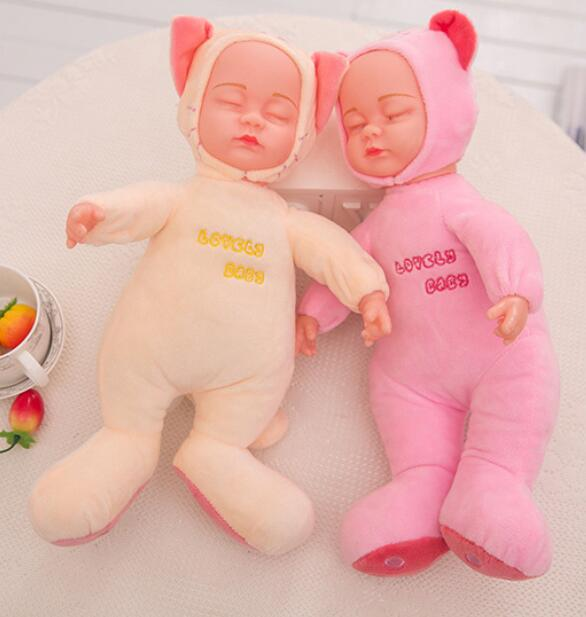 Baby lovely sleeping baby toy doll plush stuffed angel doll toy