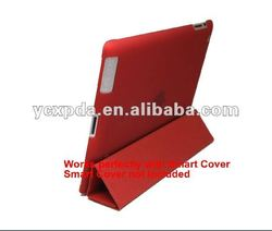 Newest design for New iPad smart cover PC case with rubber oil inside