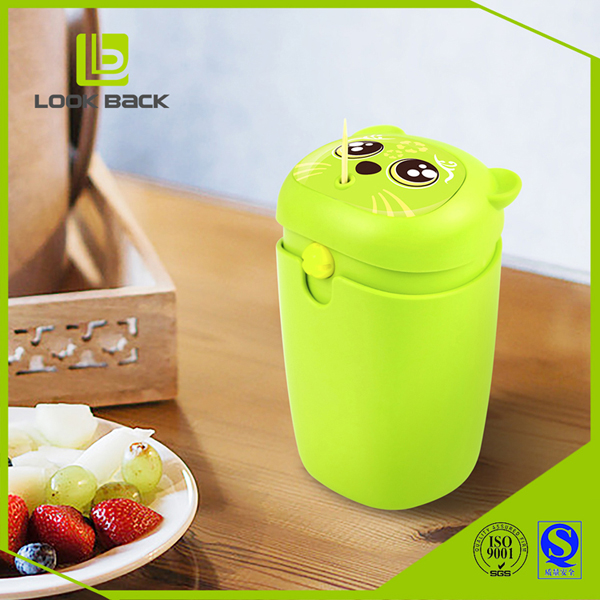 2016 LOOK BACK Cute Panda Shape Plastic Automatic Toothpick Container Hot Sale
