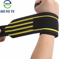 Customized adjustable colorful boxing wrist brace weight lifting elastic wrist wrap