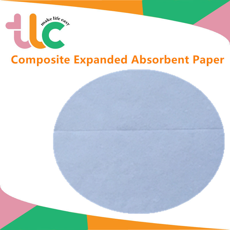 hygiene raw materials absorbent paper or airlaid paper with sap for sanitary napkin and baby diaper