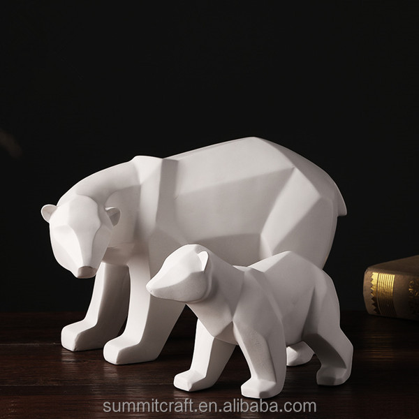 Stylish resin white animal statue modern home decor