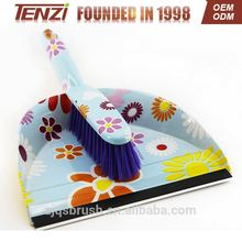 2017 plastic dustpan and broom/plastic dustpan and broom set Cleaning plastic brush with dustpan