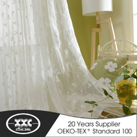XXC factory classic embroidery sheer roman curtain