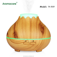 Aromacare Ultrasonic Humidifier Aromatherapy 300ML Mini Portable Mist Maker Aroma Essential Oil Light Wooden Diffuser