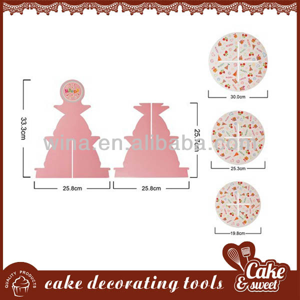 China supplier paper acrylic cake stand