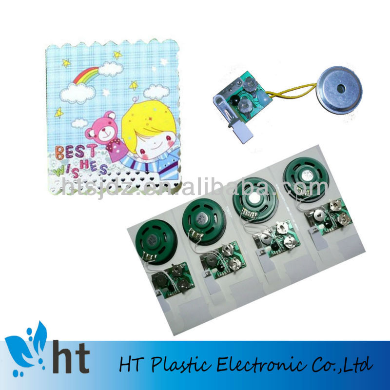 greeting card programmable sound module with USB/can upload music from PC
