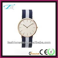 2013 water resistant nylon band watches quartz movement new design hot in europe