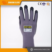 CE Certification 13G Seamless Zebra-Stripe Nitrile Coated Touch screen Construction Safety Work Gloves high quality
