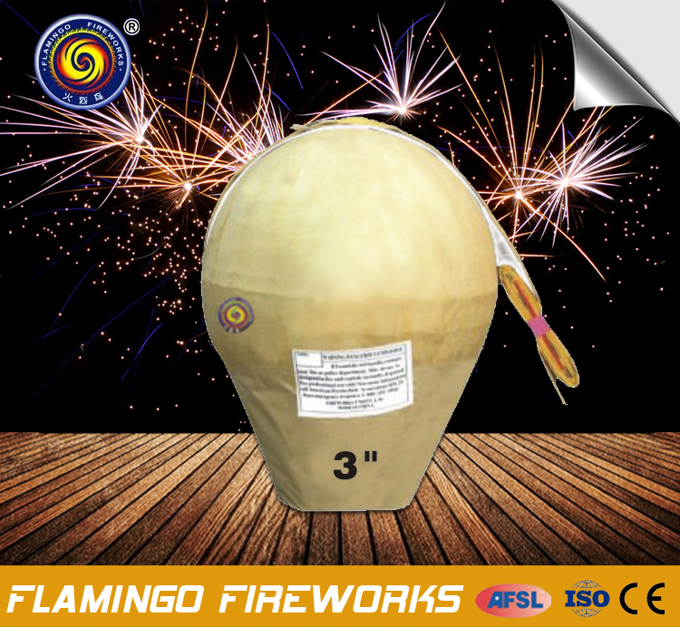 "Quality control service 3"" Display Shell 3 inch fireworks shells"