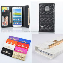 Cash & Card Slots Flip Wallet Purse Leather Case For Samsung S4, for Samsung S4 phone case