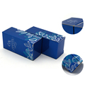 Blue rectangle paper custom packaging box for flowers