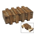 Wood factory handmade FSC rustic magic wooden box with secret drawer