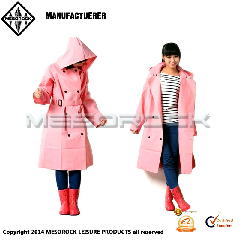 New arrived EVA fashion women medium-long trench rain coats