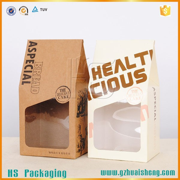 Food grade kraft stand up paper bag with window