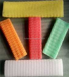 different color plastic packing fruit foam netting grape sleeve nets, biodegradable foam packaging net