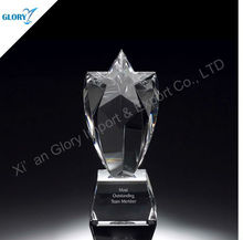 Crystal design perfume bottle star awards