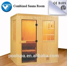 Outdoor dry saunas room with sauna heater stove /sauna cabin wood