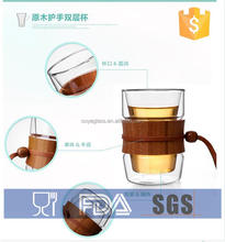 double wall thermo glass cups drinking water tea glass double-wall insulated 12-ounce glass cup