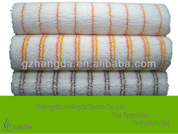 Micro-fibre paint roller fabric with color stripe 750g/sqm-12mm