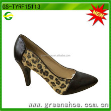 Estampado <span class=keywords><strong>de</strong></span> <span class=keywords><strong>leopardo</strong></span> <span class=keywords><strong>de</strong></span> moda ladies alta <span class=keywords><strong>zapatos</strong></span> tacon