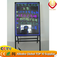 Alibaba new products 60*80cm integrated A- stand advertising LED writing board led outdoor advertising board for shop promotion