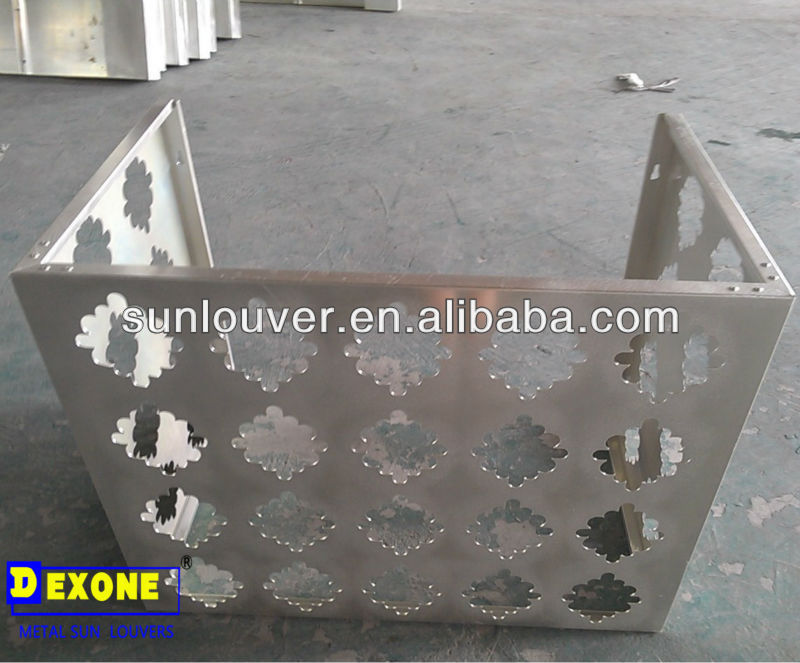 outdoor aluminum air conditioner cover for protection with hollow pattern
