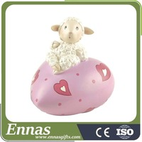 Polyresin wool sheep crafts for children