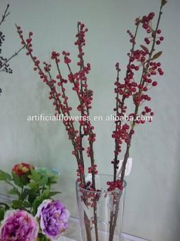 High quality artificial rattan branch cranberry branch for Artificial cranberries for decoration