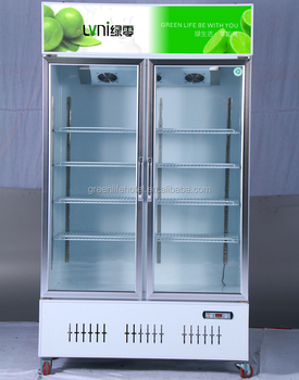 LVNI Upright Drink Beverage and glass french door refrigerator