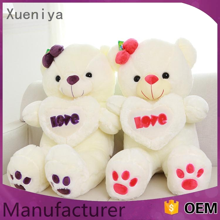 promotional luxury custom made plush bear toy for valentines day
