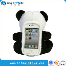 Custom Plush Panda Toy Cell Phone Case for iPhone